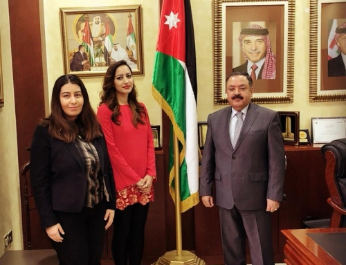 Meeting with the Honorable Ambassador Jum'a Abdallah Al-Abbadi & Consular Diana Al Hadid