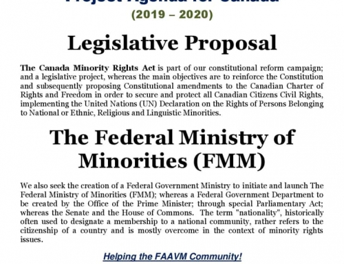 2019-2020 Agenda for Federal Association for the Advancement of Visible Minorities, CANADA