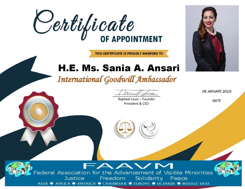 Ambassador H.E. Ms Sania