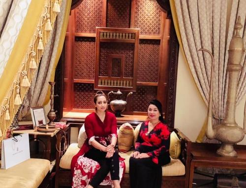 Meeting with Princess Romana Murad from Malaysia in Dubai