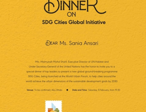 UN Habitat's Special Dinner on SDG Cities Global Initiative.